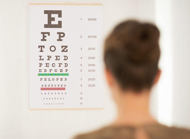 Tabela de Snellen acuidade visual