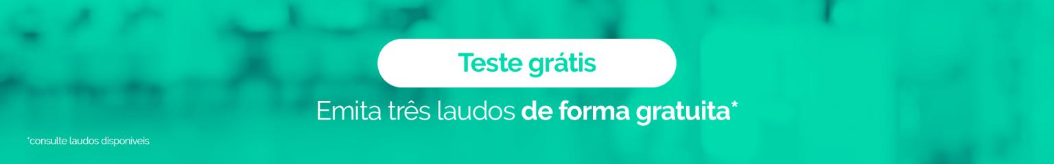"""Banner no artigo """"Teleconsulta"""" para teste grátis na Mais Laudo"""